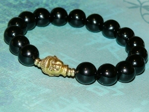 Buddha (Gold) Black Onyx Healin - yinyanggirldesigns | ello