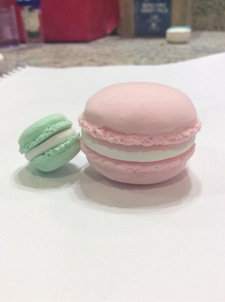 Air dry Mint Starwberry macaron - tinycharmscreations | ello