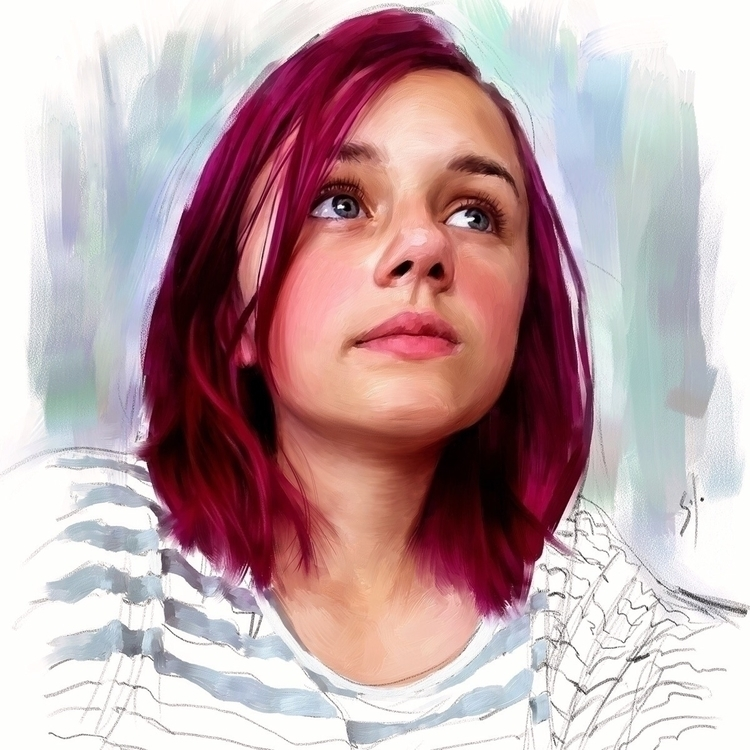 Portrait solo. http://www,solo - soloartwork | ello