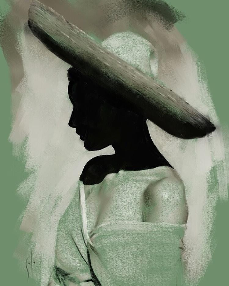sombrero Portrait solo. http - art - soloartwork | ello