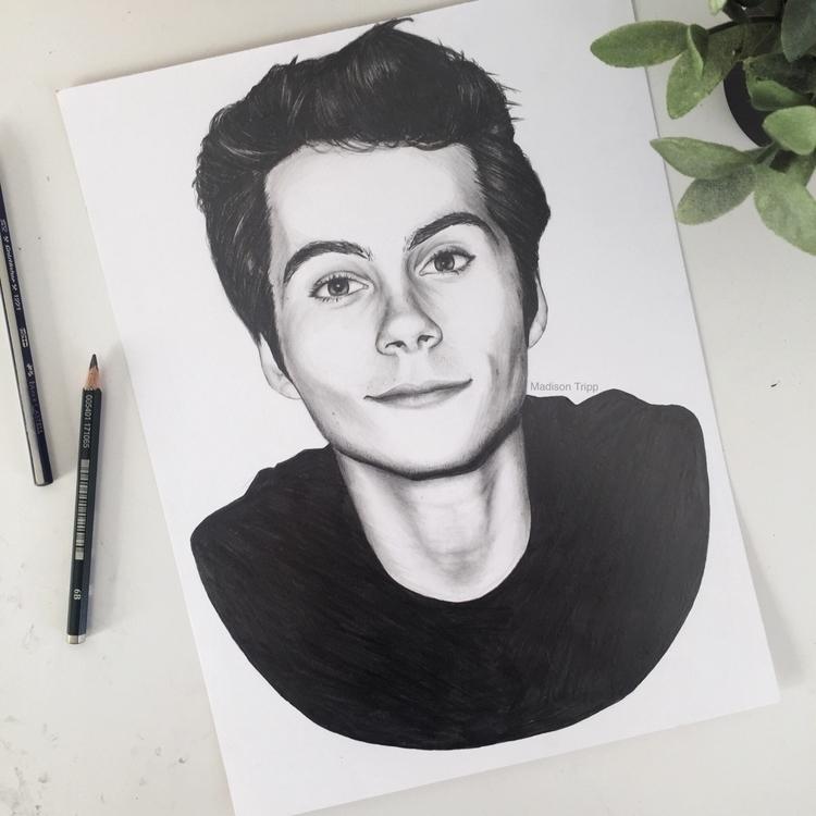 Portrait Dylan graphite charcoa - madisontripp | ello