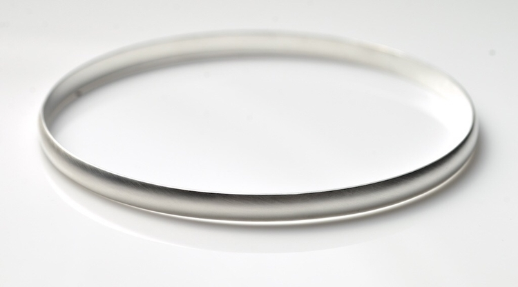 Dome Silver Bangle - forget - bangle - mineralrare | ello