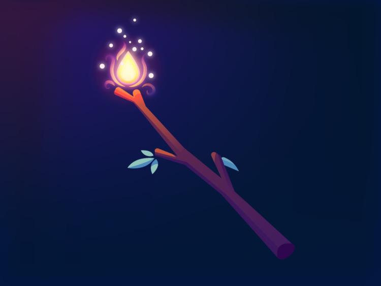 Flaming Deku Stick (111/365 - darumacreative | ello