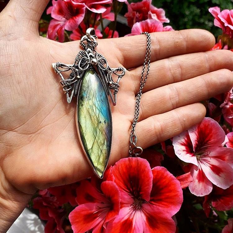 Labradorite pendant fariytel de - puffjewelry | ello