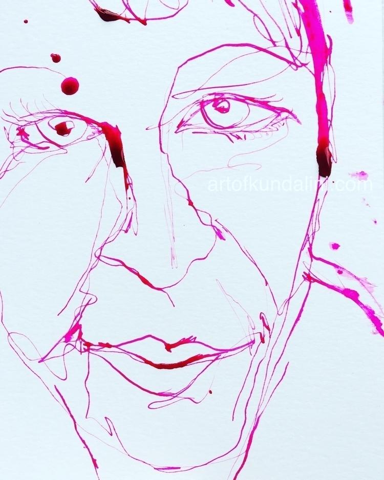 Tela  - 30seconddrawing, ink, pink - arnabaartz | ello
