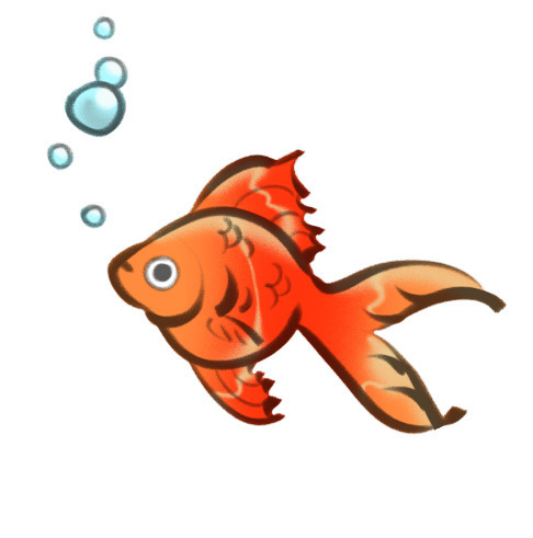 goldfish - fish,, goldfish,, illustration, - gorillaprutt | ello