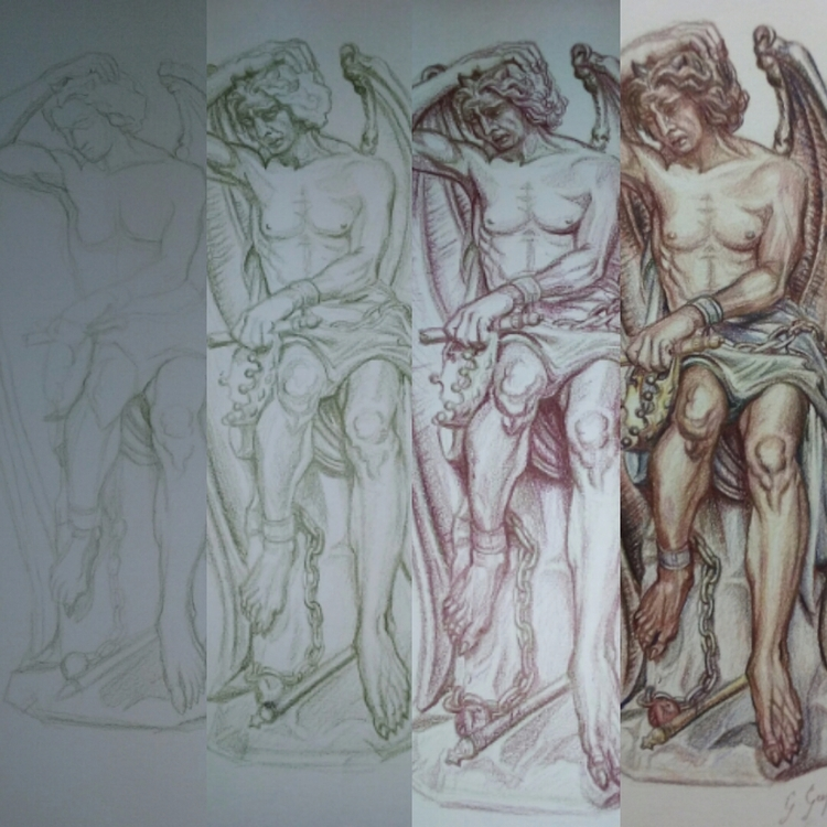 Steps - drawing, primsmacolor, colorpencils - ivy_artistic_chaos | ello
