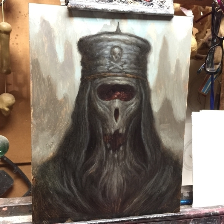 9x12 study night. paint fast - darkart - chetzar | ello