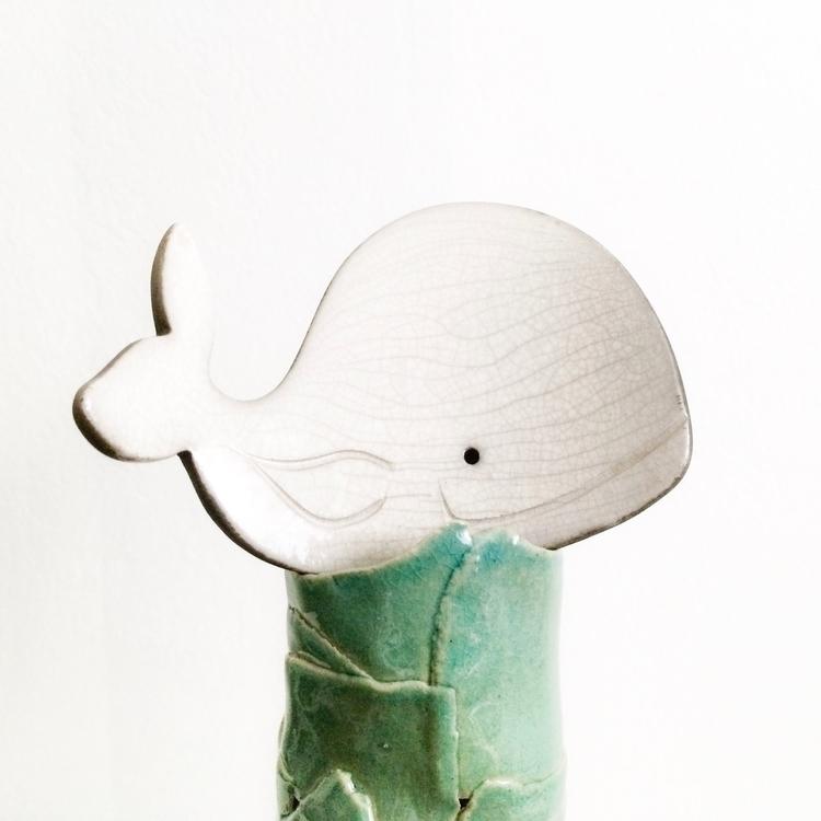 Whaley cute handmade raku ceram - highyieldstudio | ello