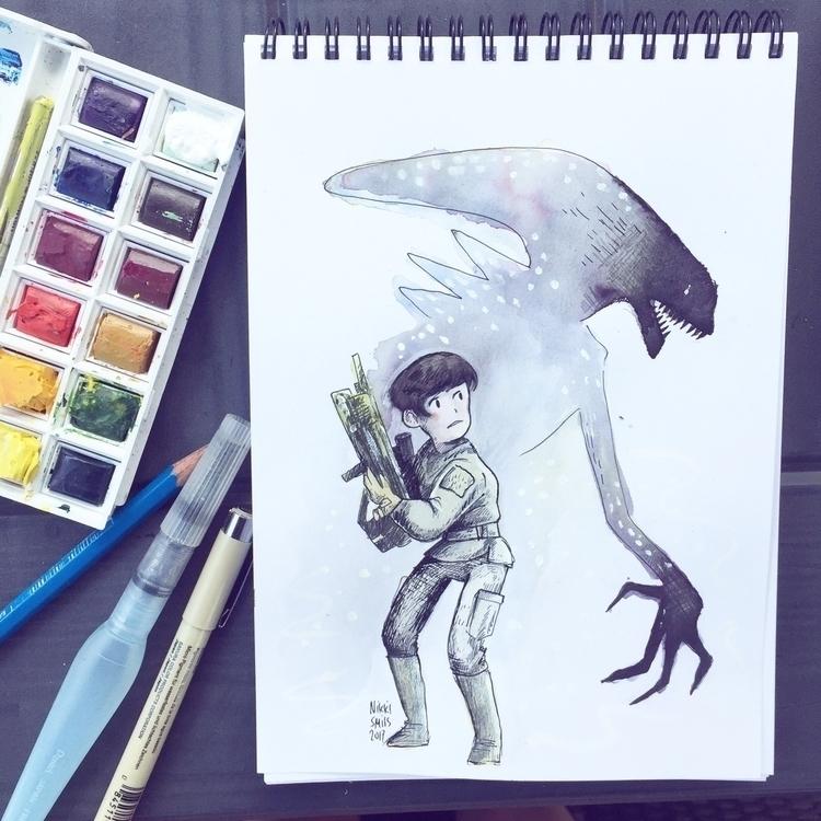 Alien Covenant awesome! remembe - nikkismitsillustration | ello