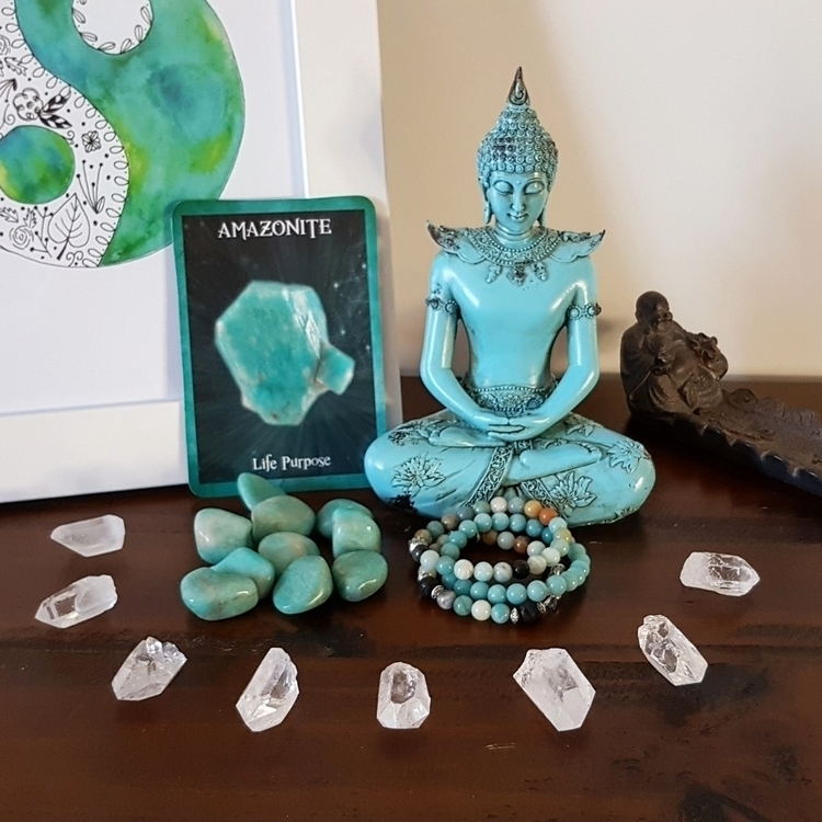 Beautiful calming amazonite blu - clearmoonbyjessie | ello