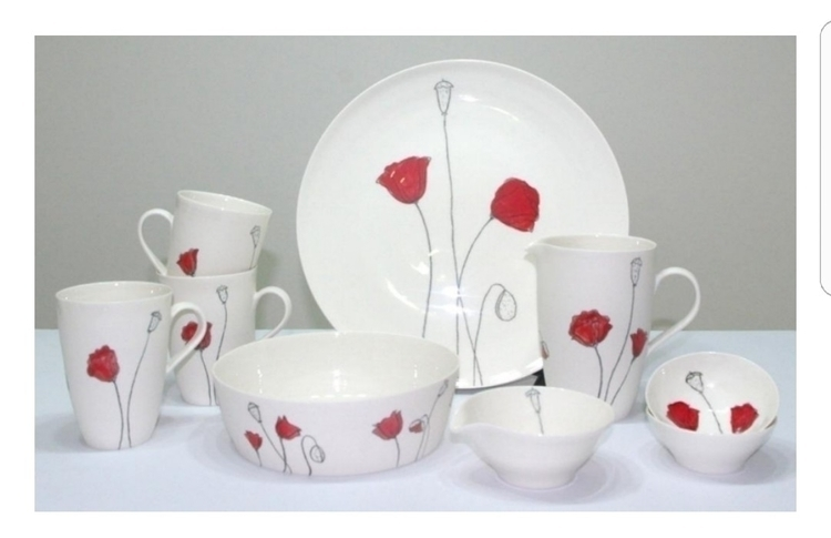 hand porcelain 'Poppy - ateliercrafers | ello