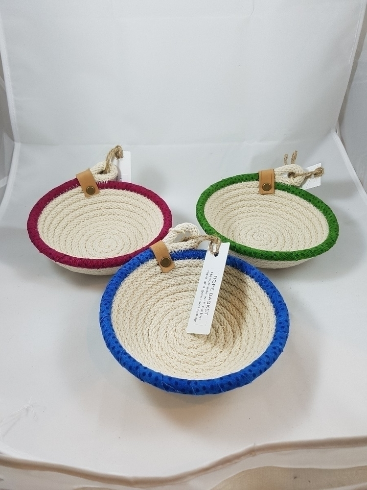 cotton rope hand stitched bowls - ateliercrafers | ello