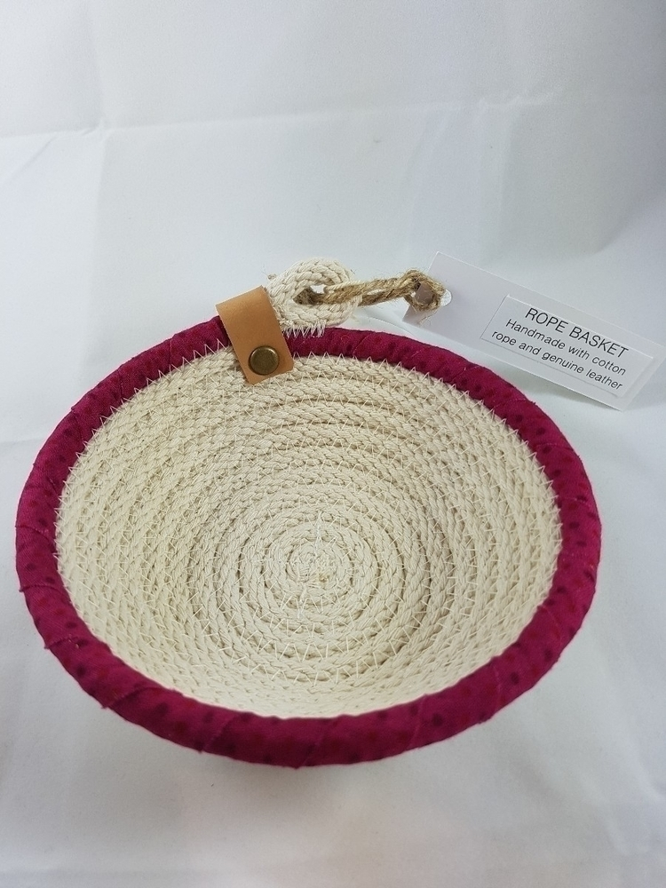 cotton rope coiled bowl recycle - ateliercrafers | ello