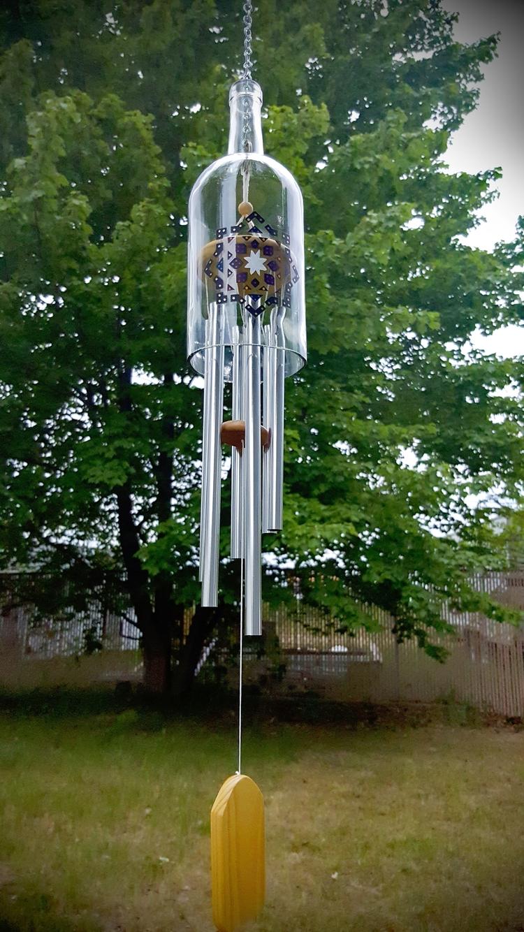 windchimes, upcycled, mandala - irishgypsydesignshop | ello