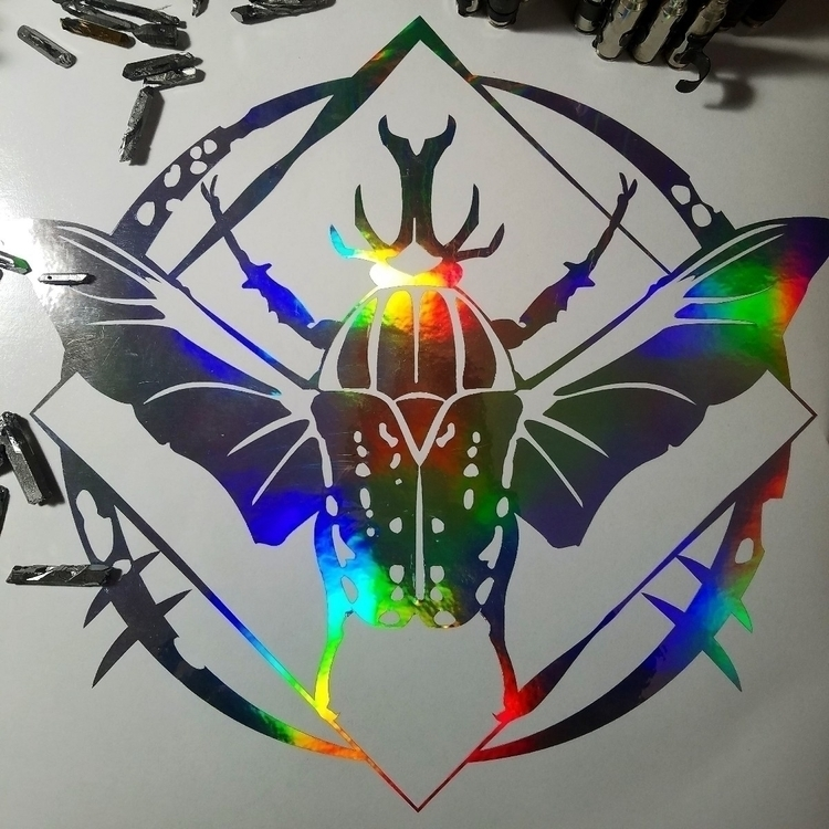 Holographic mecynorhina savagei - newdeathdisco | ello