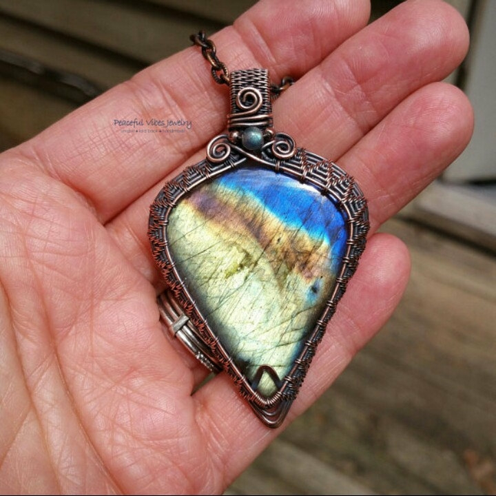 finished beautuful yellow blue  - peacefulvibesjewelry | ello
