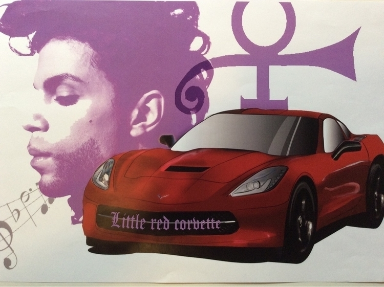 red corvette mural proposal - 3 - tahjwilson1 | ello