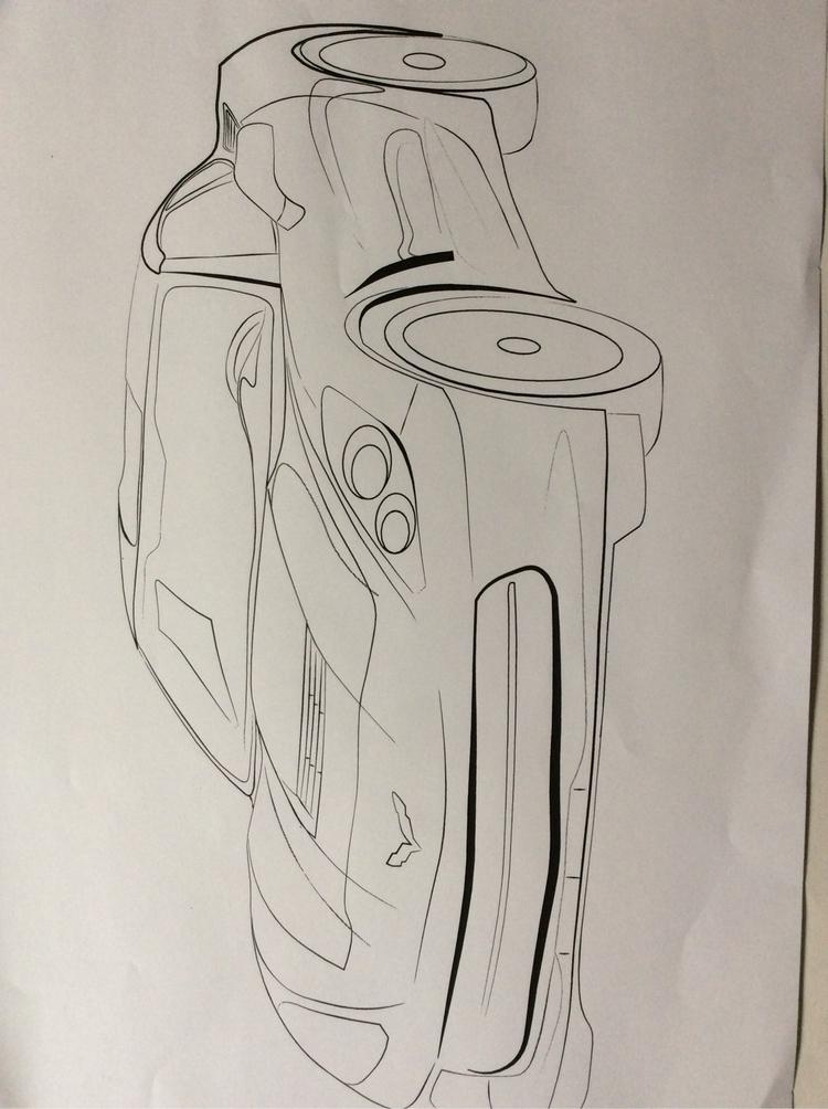 Corvette line work drawn comput - tahjwilson1 | ello