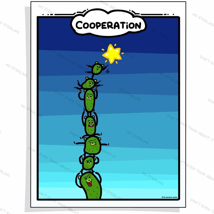 Reach stars Teamwork cooperatio - theanimatedwoman | ello