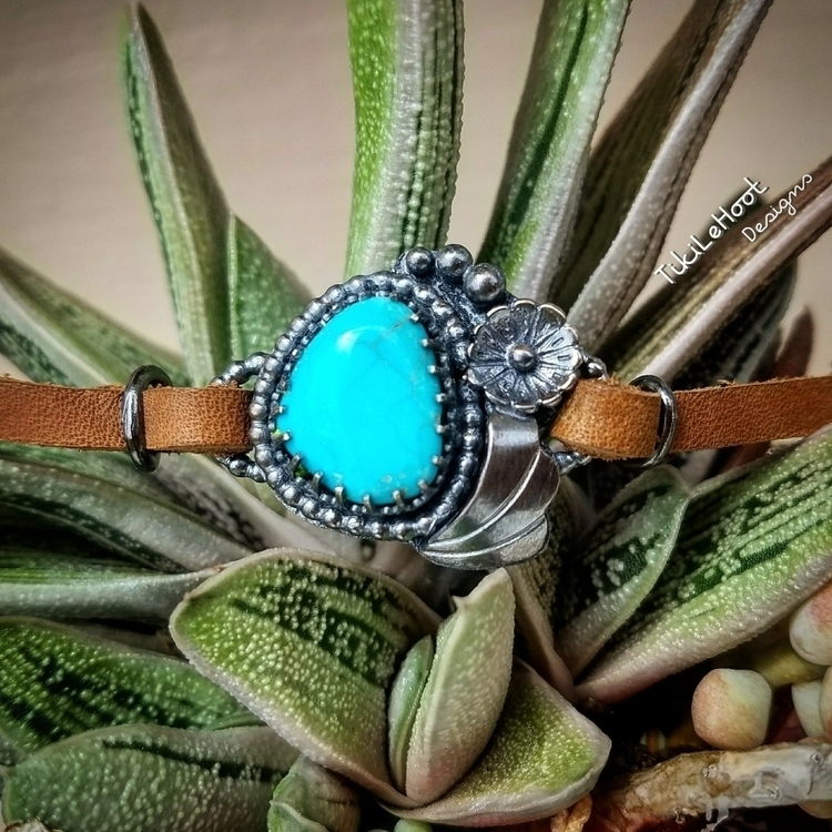 Turquoise Leather bracelet - tikilehoot_designs | ello