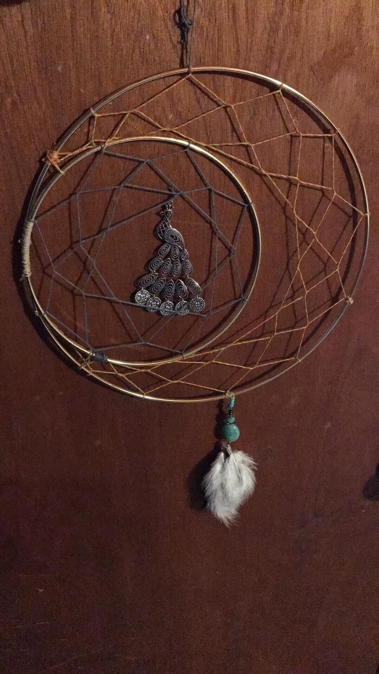 Moms dreamcatcher peacock earri - jenniferscraftdesign | ello