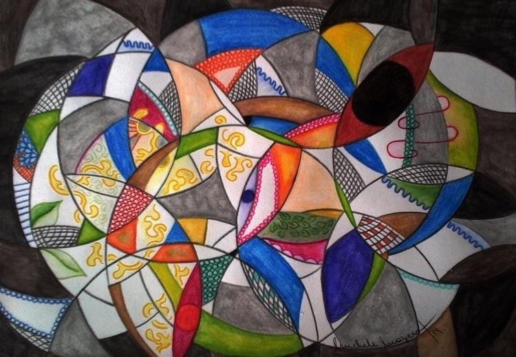Lines/ Watercolor/ Nanny - VIII - micmazi | ello
