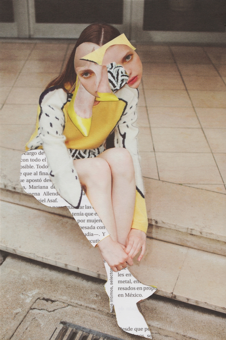 Mellow Yellow. Paper collage. 5 - marianagv | ello