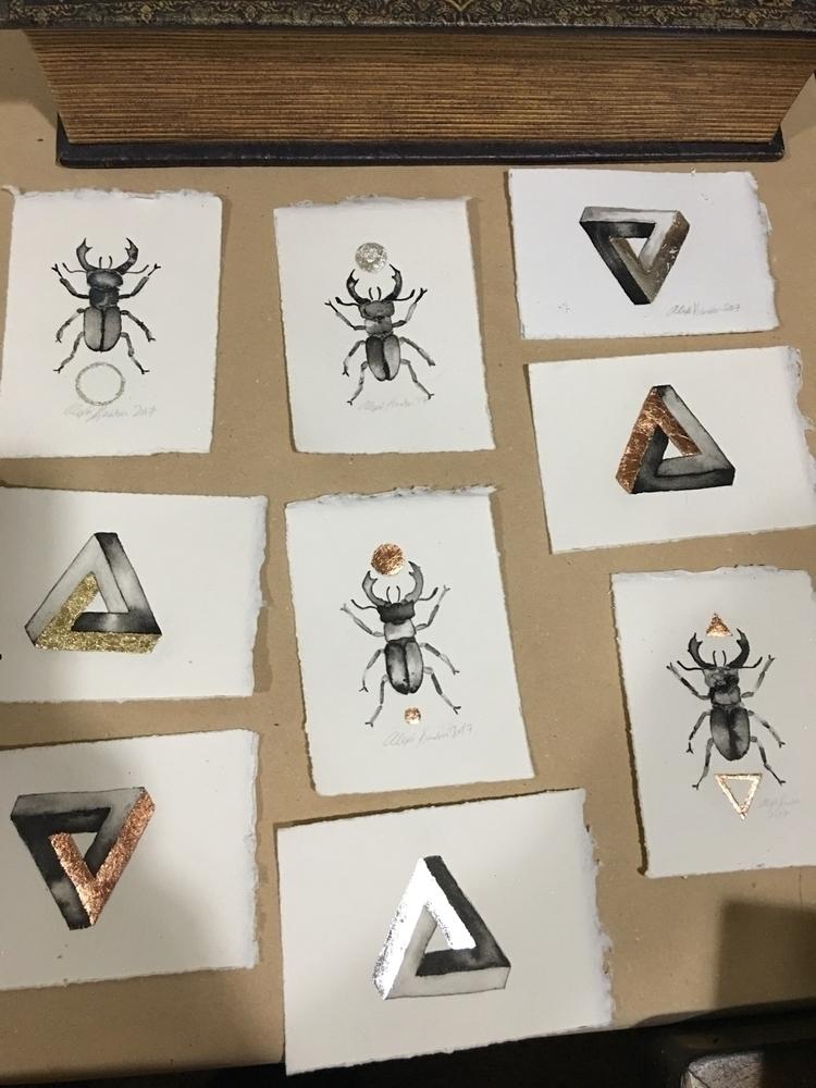 tiny beetles Penrose triangles  - alexakarabin | ello