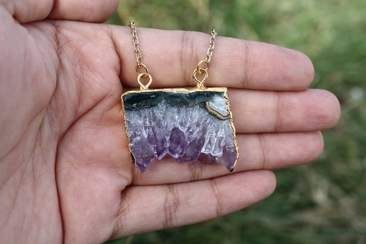Gold Electroplated Amethyst Sta - myserenitydesigns | ello