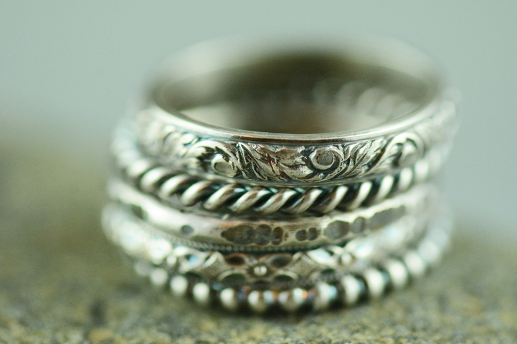 order sterling silver stacking  - silverobsessions | ello