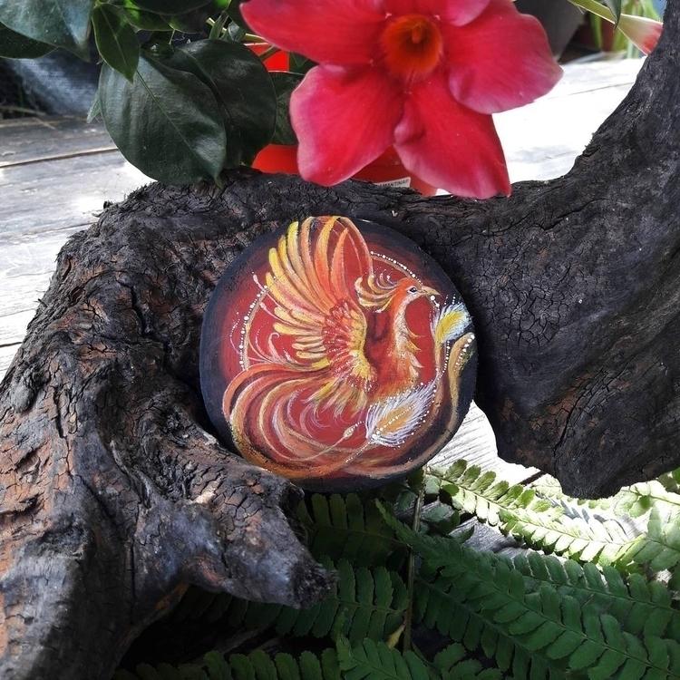 :fire:Fire Phoenix - phoenix, mythology - magicwood_creations | ello