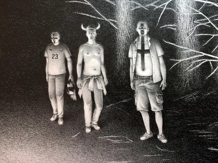 Hooligans - Great studio visit  - helliongallery | ello
