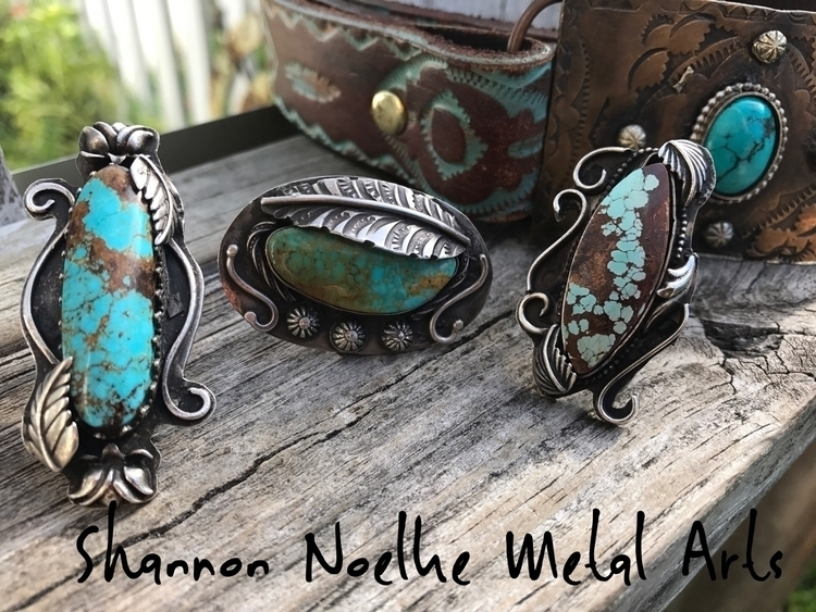 Turquoise silver leather - shannon_noelke_metal_arts | ello