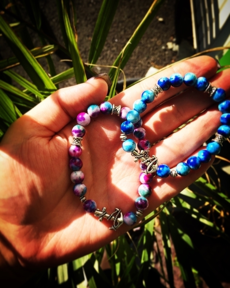 gorgeous tie die BFF bracelet s - chicchokersandcharms | ello
