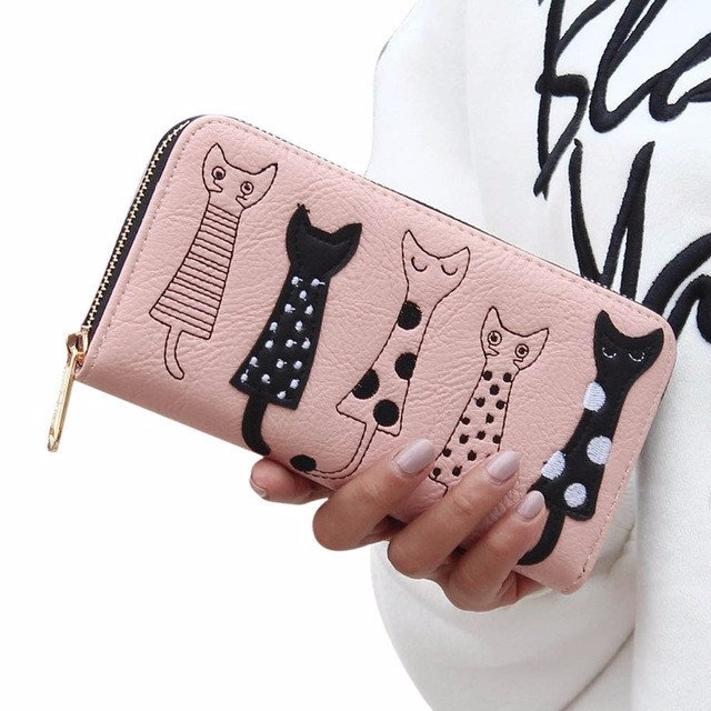 5 Cats Clutch Wallet =&gt - mysuitableshop | ello