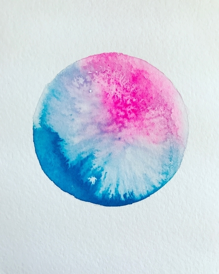 created planets - watercolor, painting - matt_shurtleff | ello
