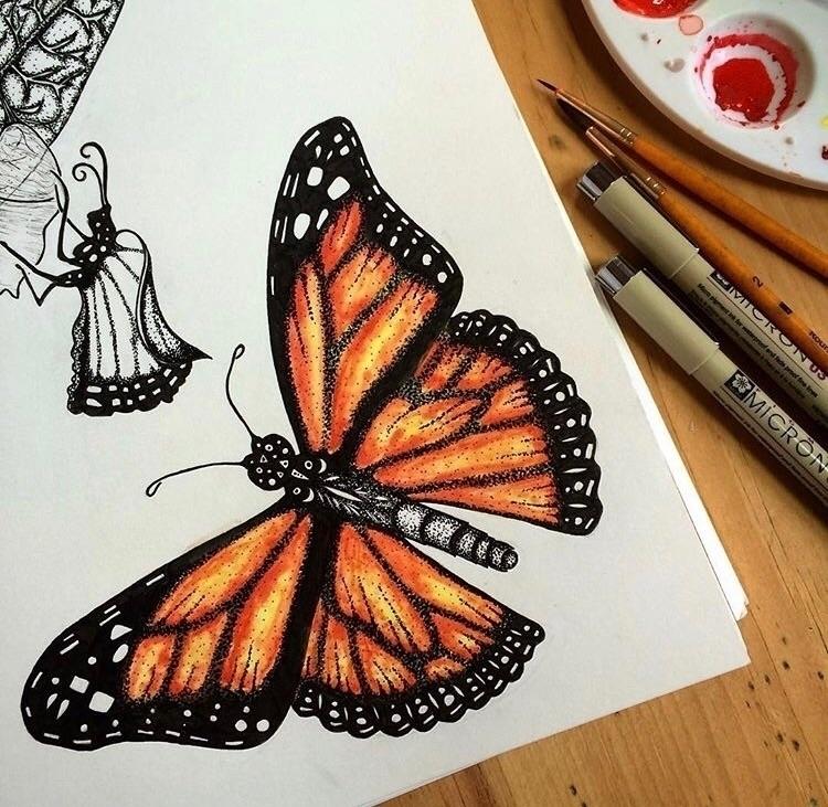 :sparkles:Monarch Butterfly:spa - maryajewelry | ello