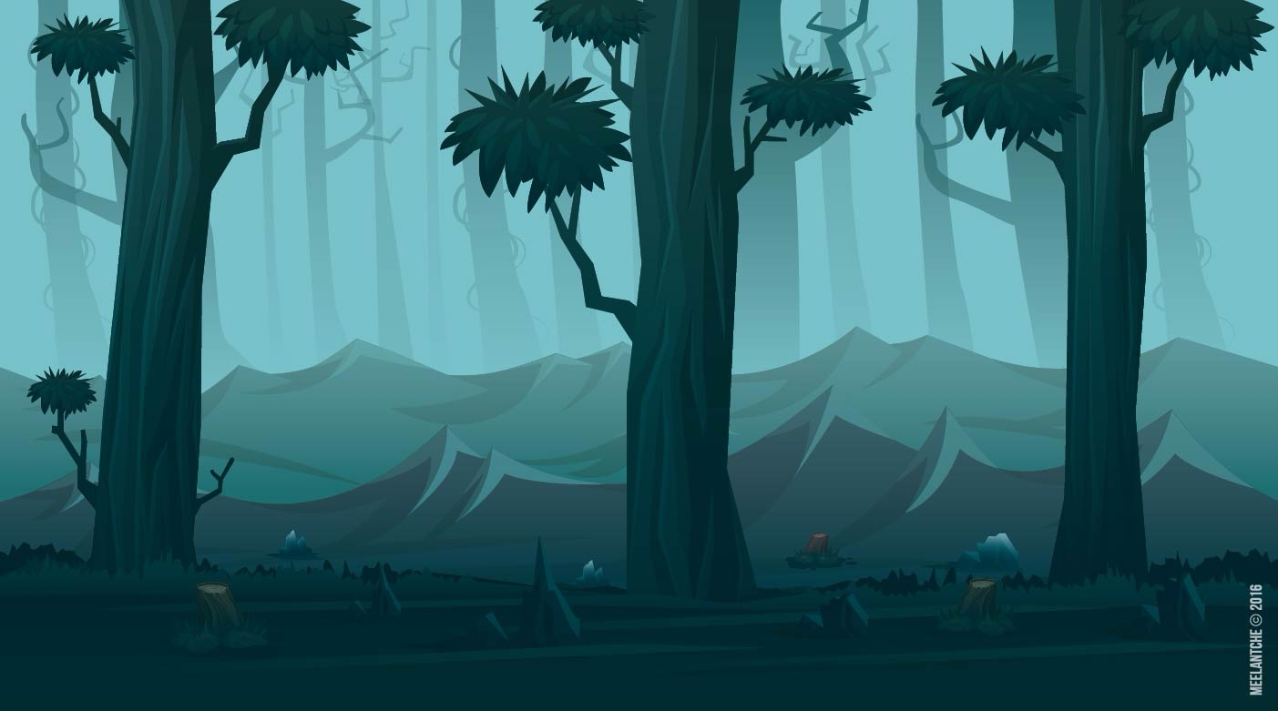 Forest environment game Hero  - Kiss - meelantche | ello