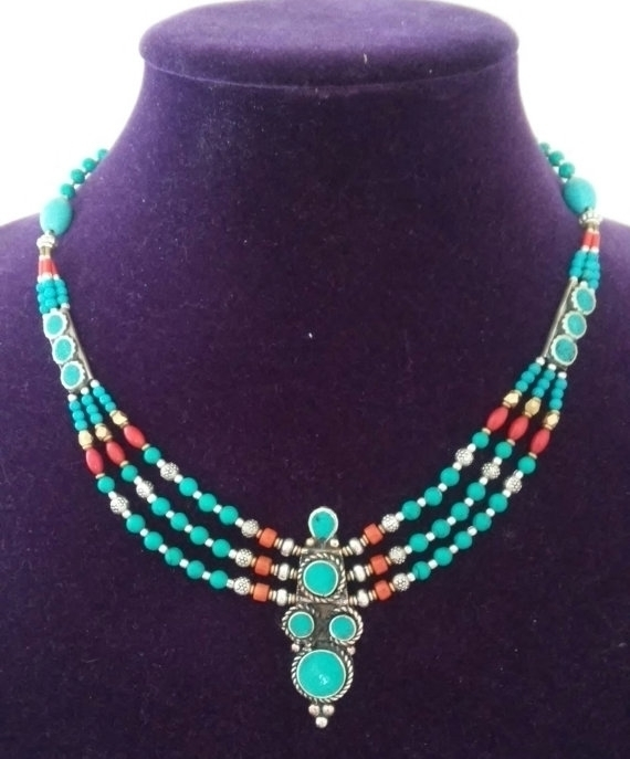 Gorgeous Nepalese Turquoise Cor - jewelsbyvittoria | ello