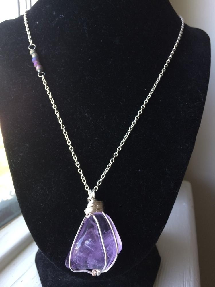 lovely Amethyst pendant druzy a - hempbykayla | ello