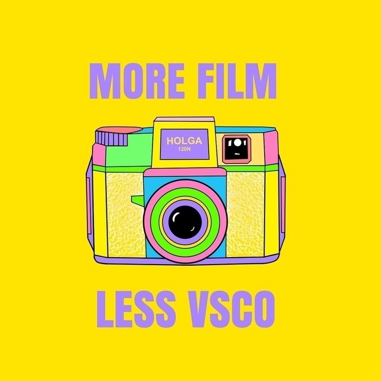 FILM, VSCO. Tee/Sticker concept - funpowder | ello