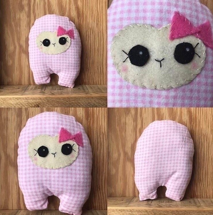 Pink Checkered Huggle adoption - tykesanimalkingdom | ello