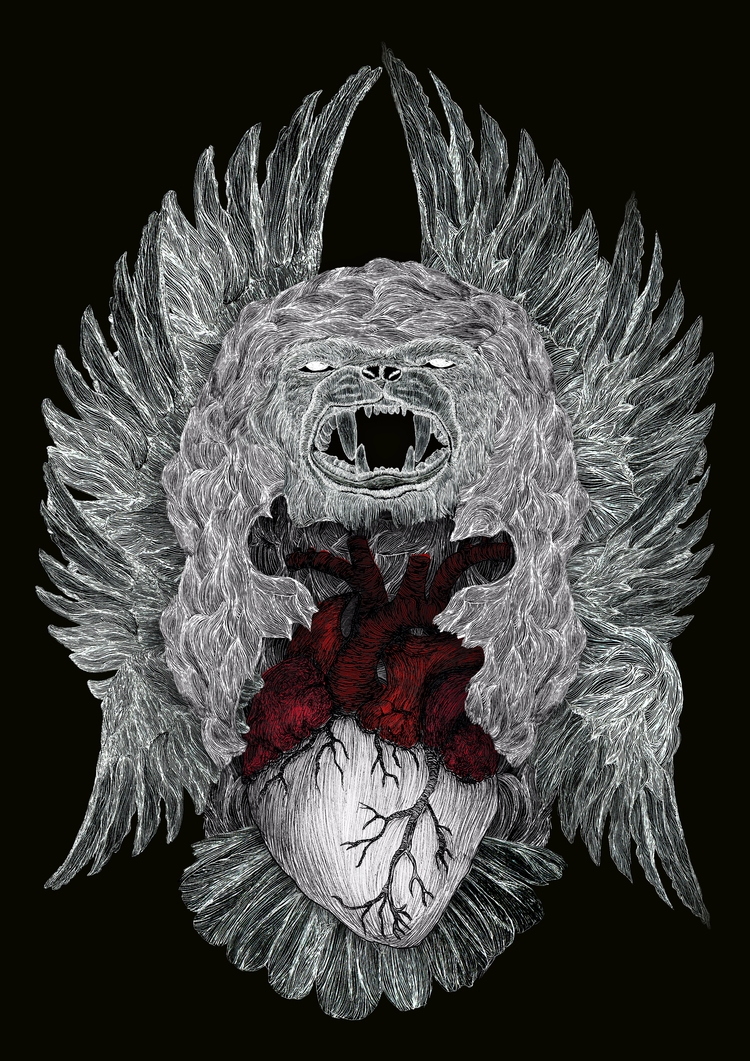 Daniel 7:4 lion, wings: beheld  - tng-1317 | ello