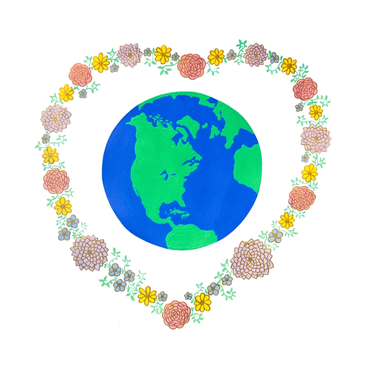 Love Earth | Rendered acrylic g - carolinewillustration | ello