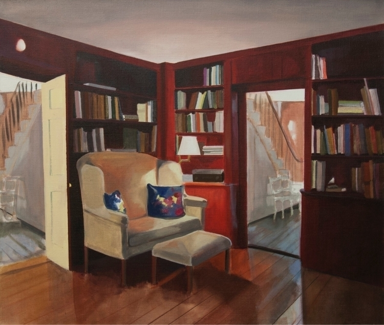 Library Scuppo Hill oil linen 2 - catenelson | ello