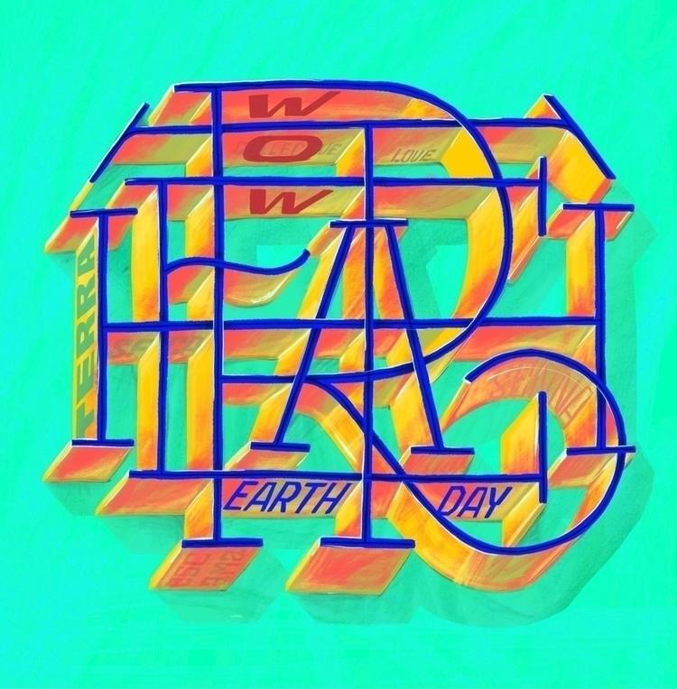 Earth day - type, monogram - leandrosenna | ello