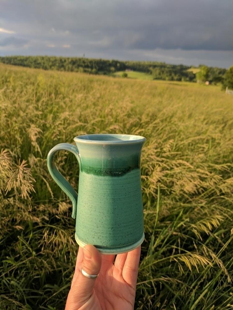 Moody sky, Jaded mug - hillbippieclay - hillippieclayco | ello