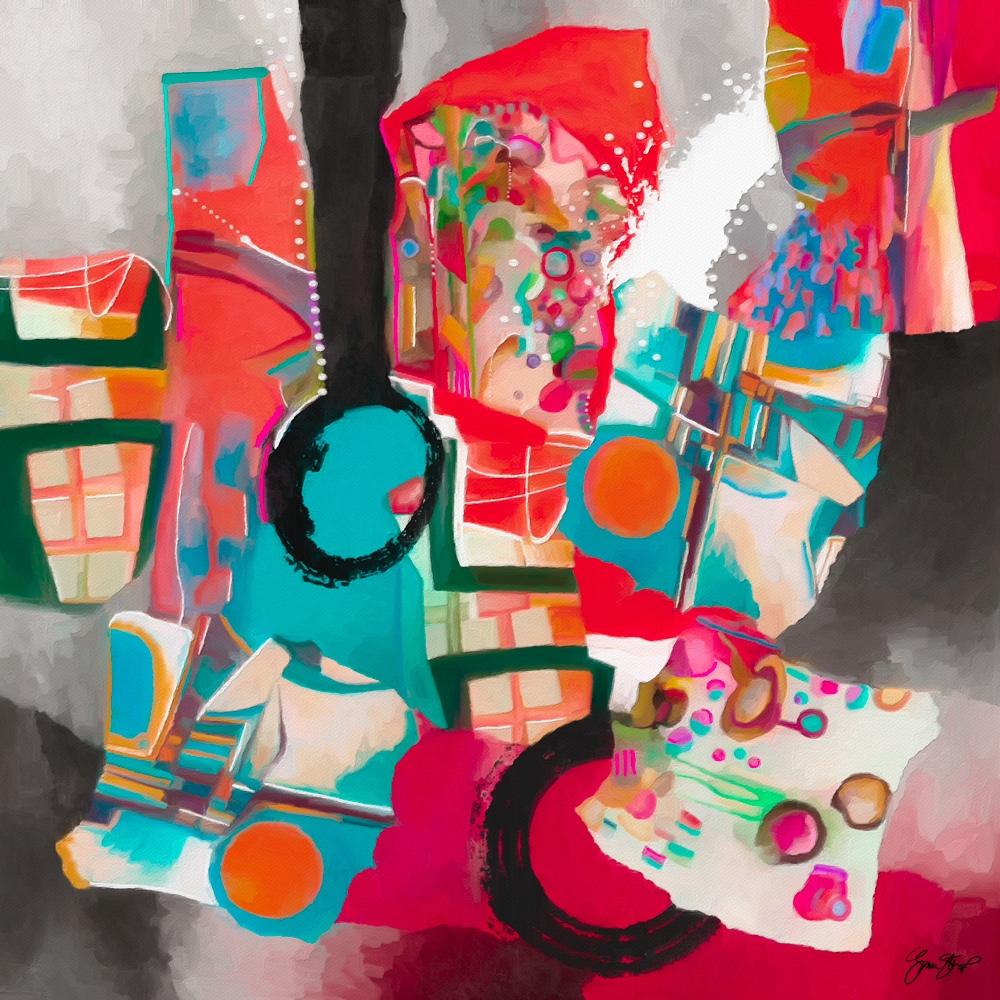 Candy Shop - abstract, mixedmedia - ginastartup   ello