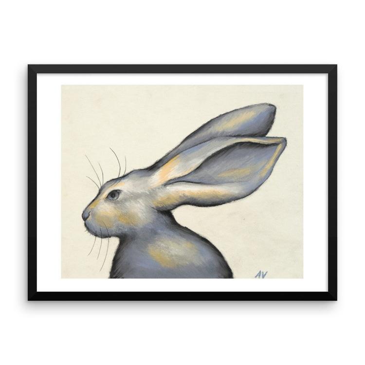 Framed Jackrabbit Print - animalart - andreavickery | ello